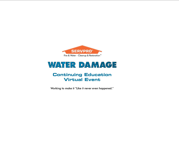 Water Damage Continuing Education Virtual Event